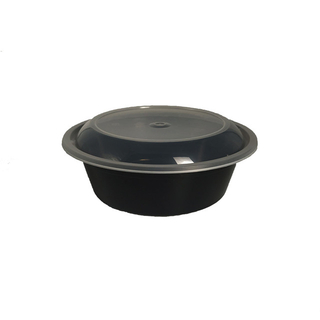 900ml/32oz plastic round take away food catering boxes container