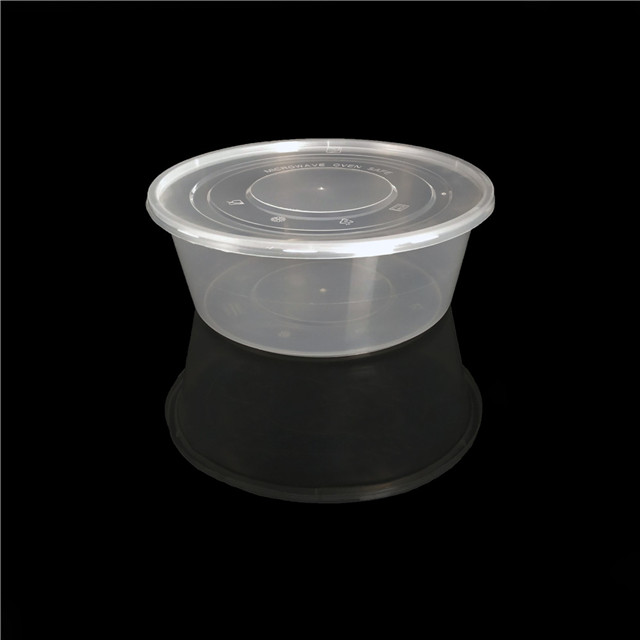 3000ml round plastic transparent lunch packaging plastic box