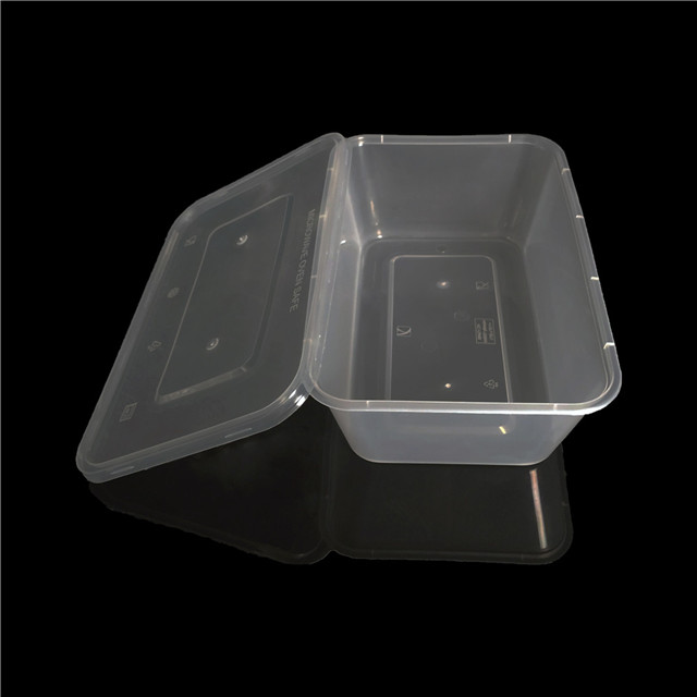 1500ml pp microwave plastic food container with lid