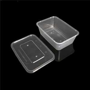 750ml disposable plastic take out/take away bento box