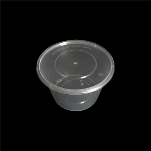 1000ml round disposable lunch bento box plastic take away food contain food packaging box with lid