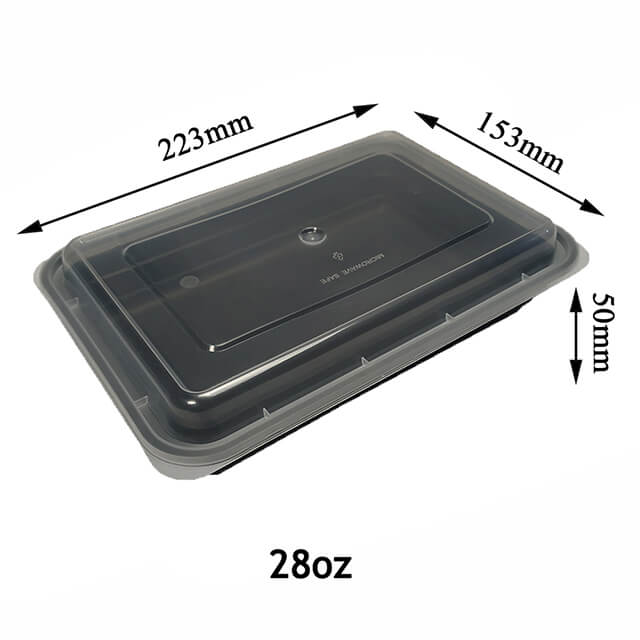1 Compartment Lunch Box Food Eco-friendly Food Container with Lid