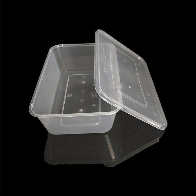 microvave 1000ml clear rectangular disposable food to go containers
