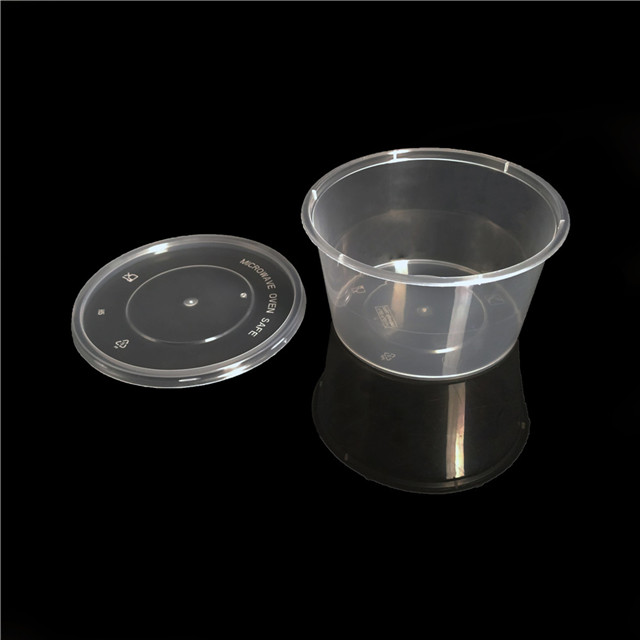 16oz/448ml food containers round disposable lunch packaging bento box with microwave